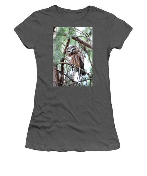 Northern Saw-whet Owl 2 Women's T-Shirt (Athletic Fit)