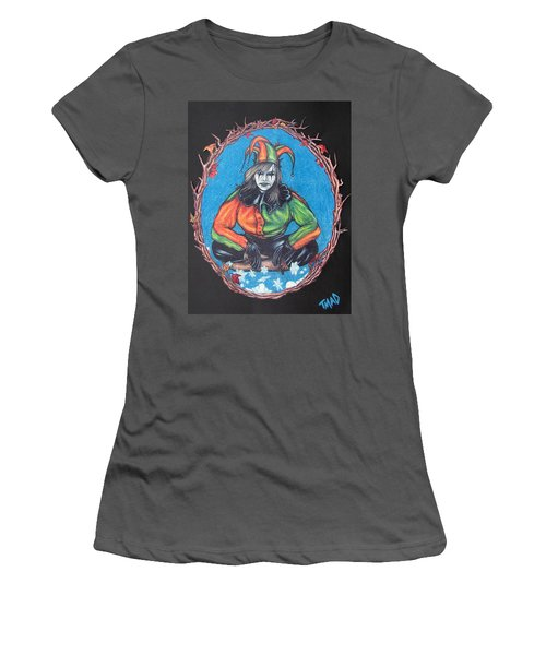 Women's T-Shirt (Junior Cut) featuring the drawing November Snow by Michael  TMAD Finney