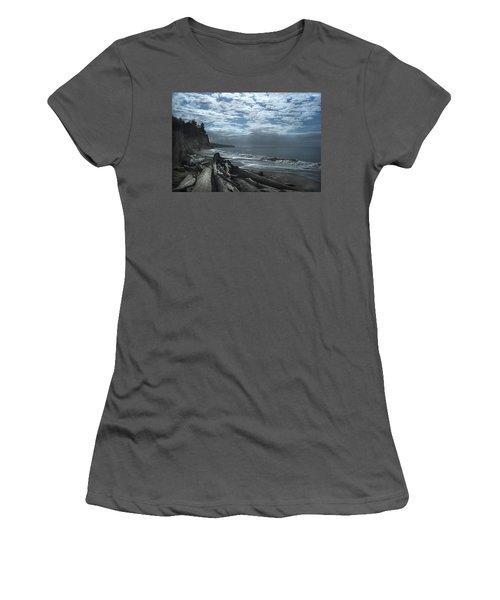 Ocean Beach Pacific Northwest Women's T-Shirt (Athletic Fit)