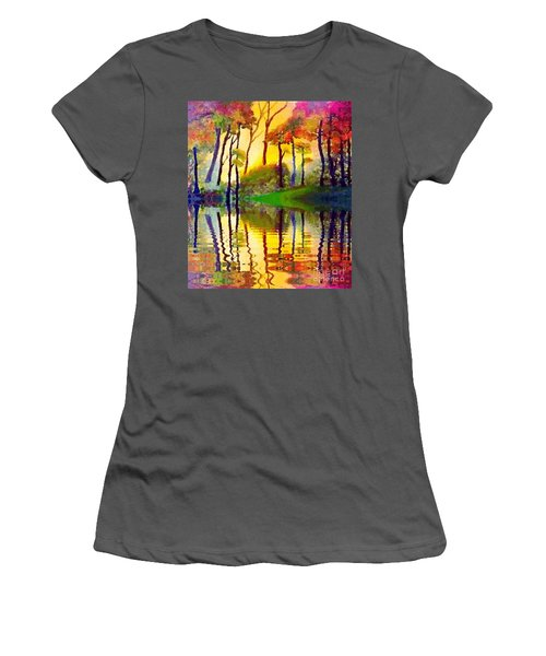 Women's T-Shirt (Junior Cut) featuring the painting October Surprise by Holly Martinson