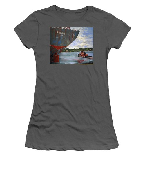 Off To Work Women's T-Shirt (Athletic Fit)