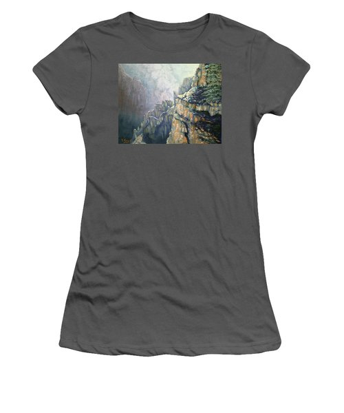Oil Painting - Majestic Canyon Women's T-Shirt (Athletic Fit)