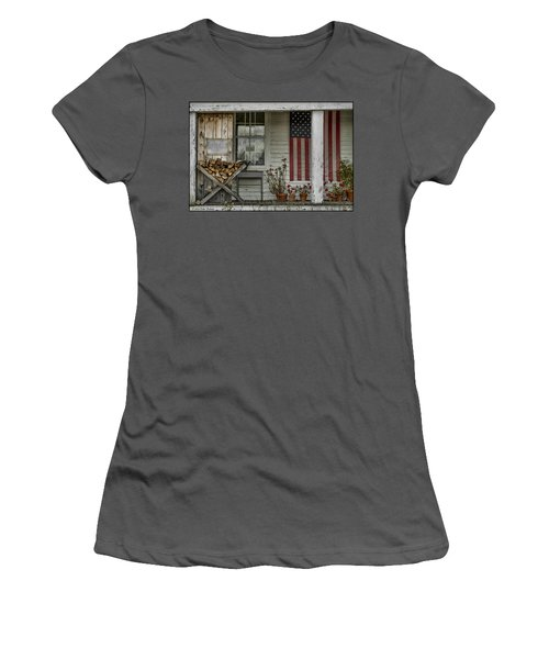 Old Apple Orchard Porch Women's T-Shirt (Athletic Fit)
