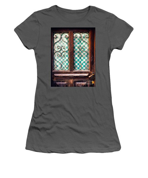 Women's T-Shirt (Junior Cut) featuring the photograph Old Door by Silvia Ganora