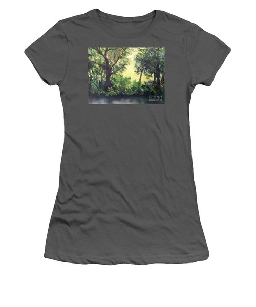 Women's T-Shirt (Junior Cut) featuring the painting Old Florida 2 by Mary Lynne Powers