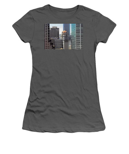 Women's T-Shirt (Junior Cut) featuring the photograph Old Humboldt Bank Building In San Francisco by Susan Wiedmann