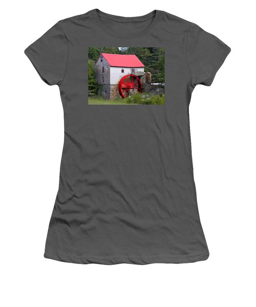 Women's T-Shirt (Junior Cut) featuring the photograph Old Mill Of Guilford by Sandi OReilly
