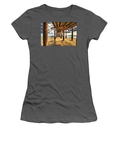 Old Pillar Point Pier Women's T-Shirt (Athletic Fit)