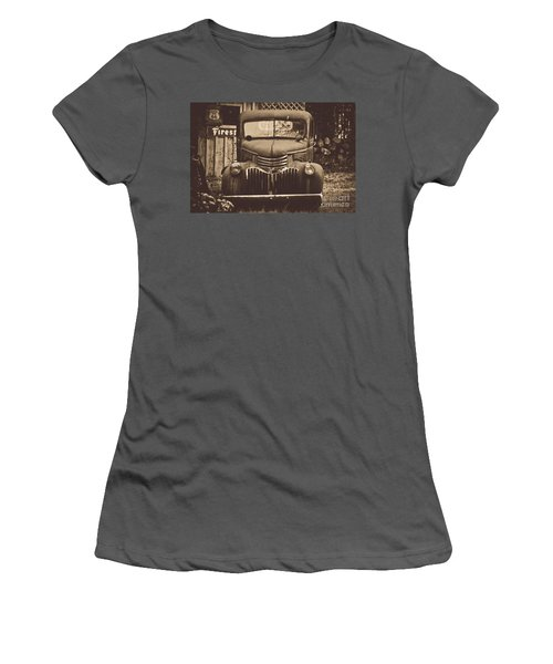 Women's T-Shirt (Junior Cut) featuring the photograph Old Times by Alana Ranney