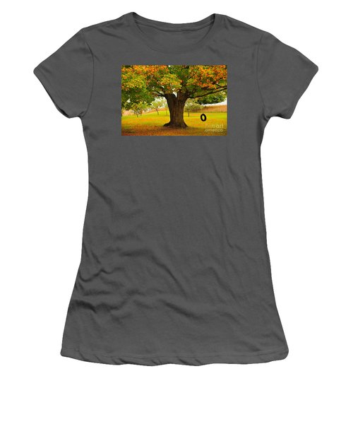 Old Tire Swing Women's T-Shirt (Athletic Fit)