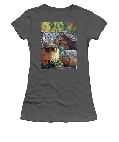 Old Village Women's T-Shirt (Athletic Fit)