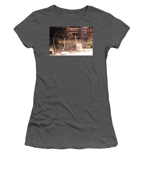 Women's T-Shirt (Junior Cut) featuring the photograph Ole Wheely by Faith Williams