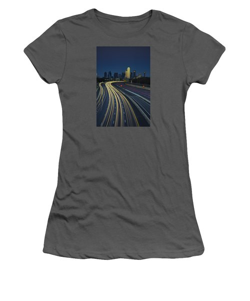 Oncoming Traffic Women's T-Shirt (Junior Cut) by Rick Berk