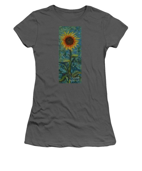 One Sunflower - Sold Women's T-Shirt (Athletic Fit)