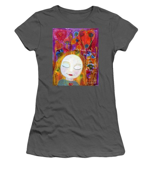 Only From The Heart Women's T-Shirt (Athletic Fit)