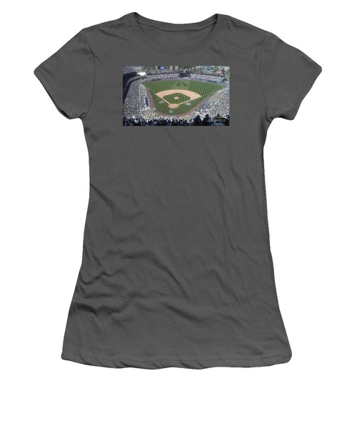 Opening Day Upper Deck Women's T-Shirt (Junior Cut) by Chris Tarpening