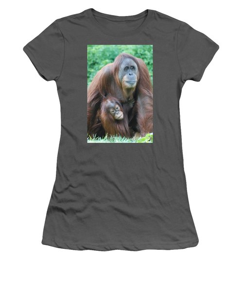 Orangutan Women's T-Shirt (Junior Cut) by DejaVu Designs