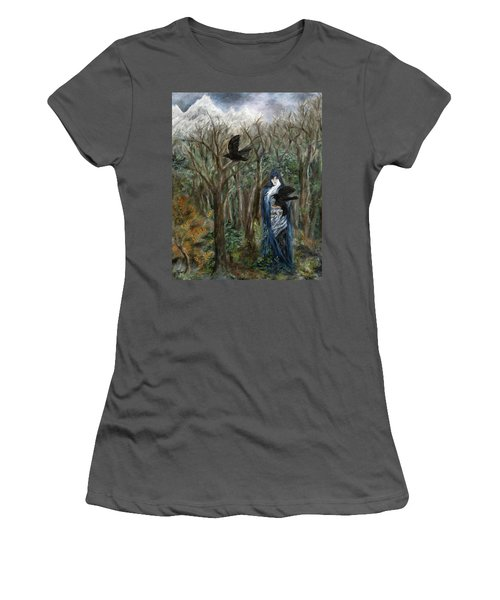 The Raven God Women's T-Shirt (Athletic Fit)