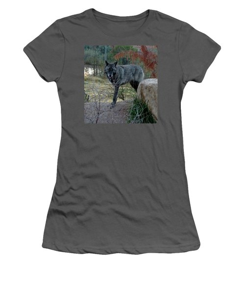 Out Of Africa Black Wolf Women's T-Shirt (Athletic Fit)