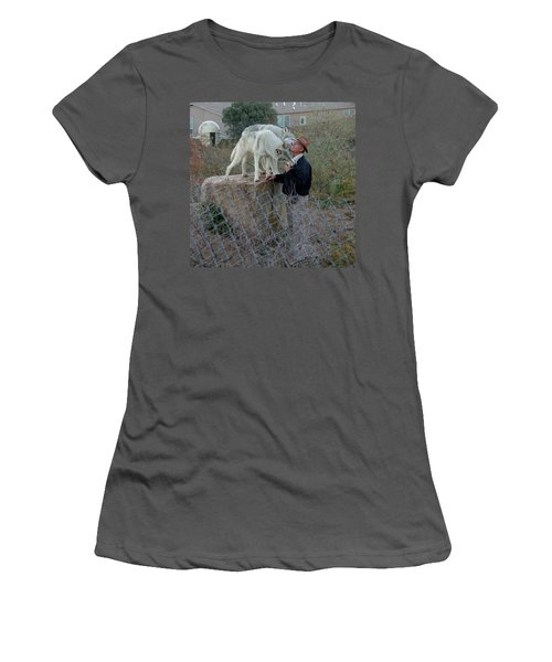Out Of Africa  Friendly Wolves Women's T-Shirt (Athletic Fit)