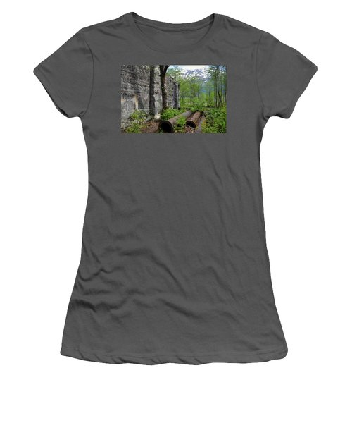 Women's T-Shirt (Junior Cut) featuring the photograph Out From The Past by Cathy Mahnke