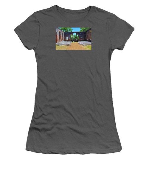 Outside Wedding Women's T-Shirt (Junior Cut) by Cynthia Guinn