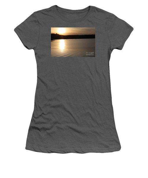 Oyster Bay Sunset Women's T-Shirt (Junior Cut) by John Telfer