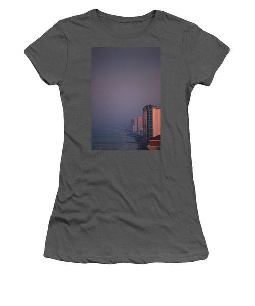 Panama City Beach In The Morning Mist Women's T-Shirt (Athletic Fit)