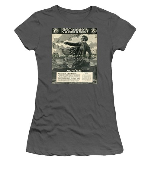 Women's T-Shirt (Junior Cut) featuring the digital art Pabst by Cathy Anderson