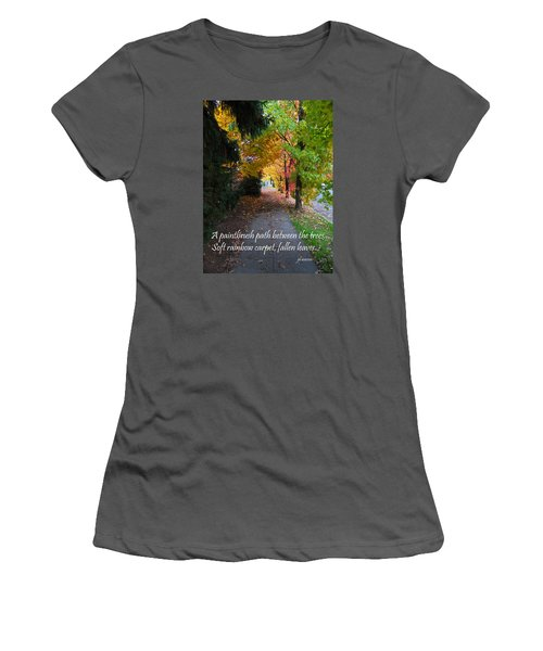 Paintbrush Path Women's T-Shirt (Athletic Fit)
