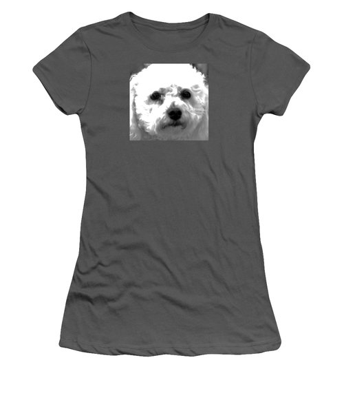 Women's T-Shirt (Junior Cut) featuring the photograph Painterly Bichon Frise by Patrice Zinck