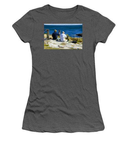 Painting The View Women's T-Shirt (Athletic Fit)