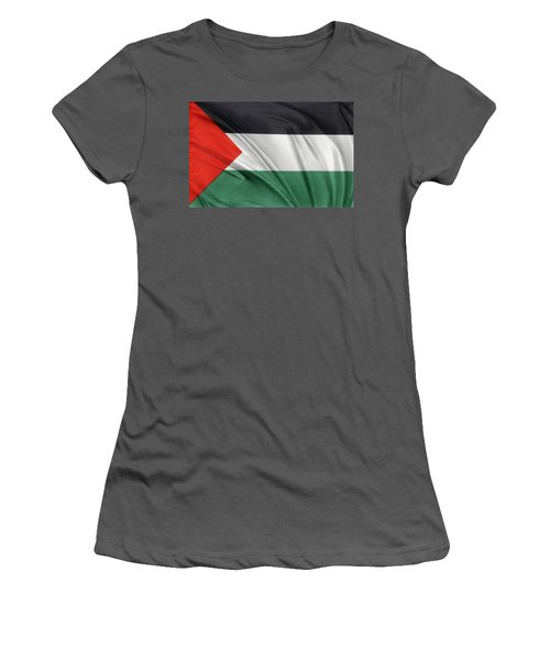 Palestine Flag Women's T-Shirt (Junior Cut) by Les Cunliffe