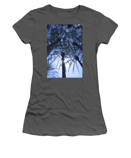 Women's T-Shirt (Junior Cut) featuring the photograph Palm Trees In The Sun by Jerry Cowart