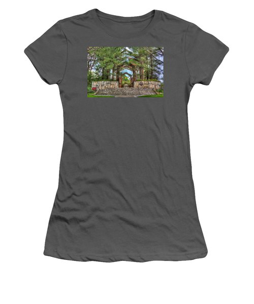 Palos Verdes Stone And Glass Women's T-Shirt (Athletic Fit)