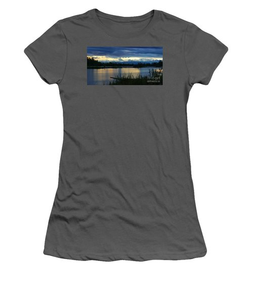 Pano Denali Midnight Sunset Women's T-Shirt (Athletic Fit)