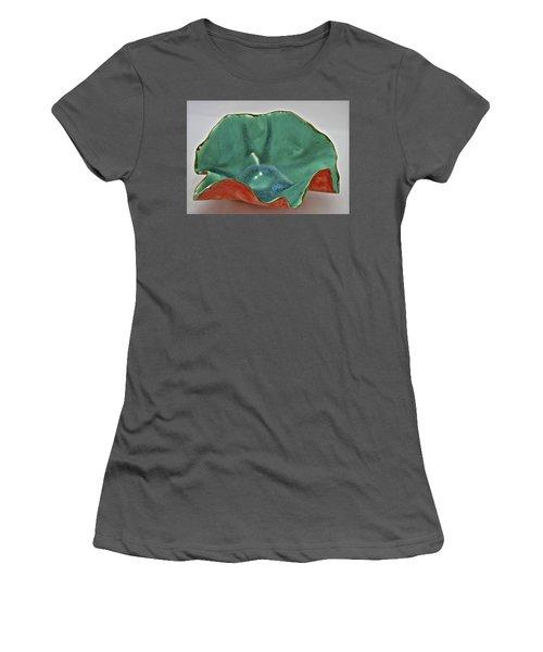 Paper-thin Bowl  09-007 Women's T-Shirt (Junior Cut) by Mario Perron