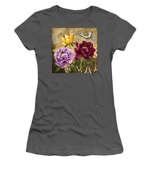 Parisian Peonies Women's T-Shirt (Athletic Fit)