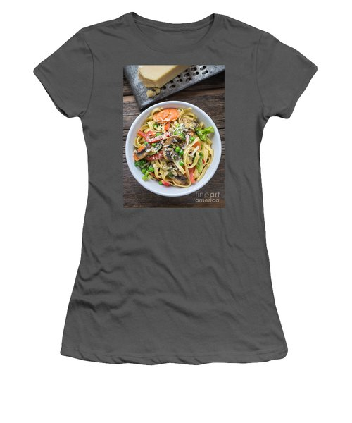 Pasta Primavera Dish Women's T-Shirt (Junior Cut) by Edward Fielding