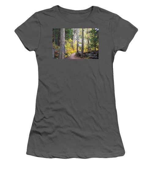 Women's T-Shirt (Junior Cut) featuring the digital art Path Of Peace by Margie Chapman