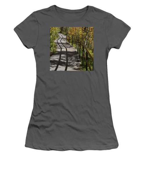 Path Shadow Women's T-Shirt (Athletic Fit)