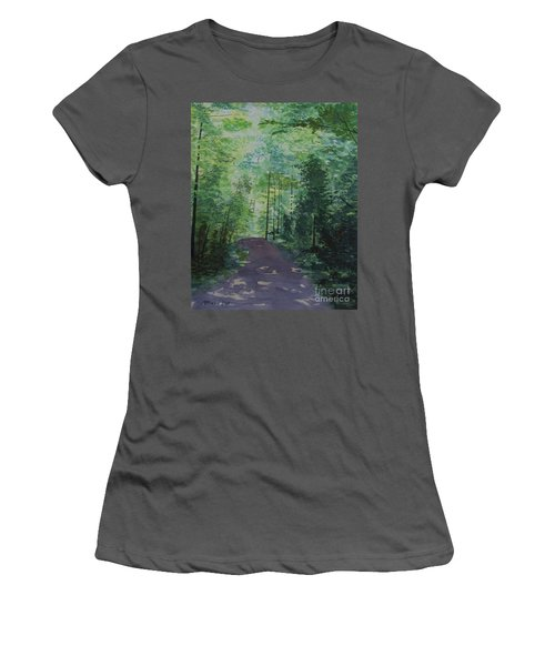 Women's T-Shirt (Junior Cut) featuring the painting Path To The River by Martin Howard