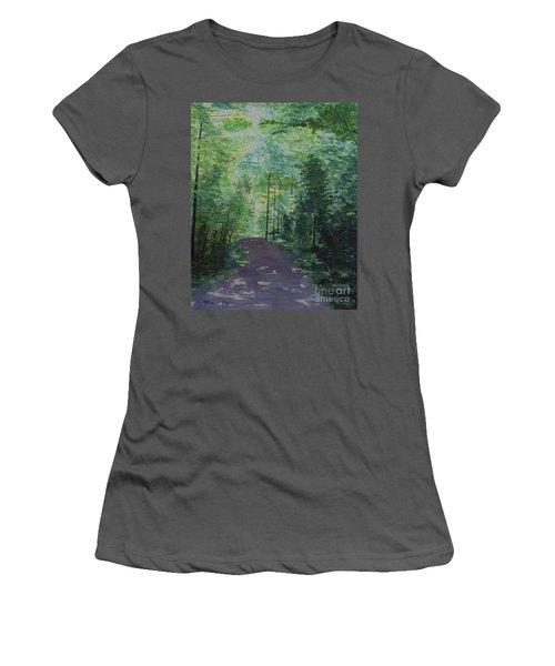 Path To The River Women's T-Shirt (Junior Cut) by Martin Howard