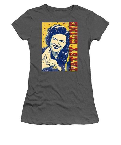 Patsy Cline Pop Art Women's T-Shirt (Athletic Fit)
