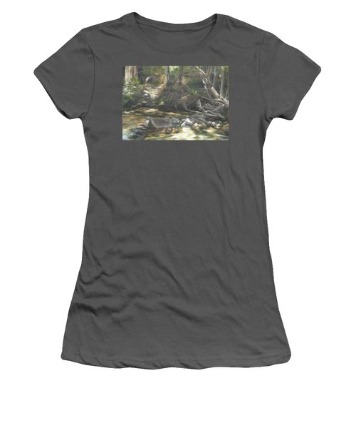 Women's T-Shirt (Junior Cut) featuring the painting Peace At Darby by Lori Brackett