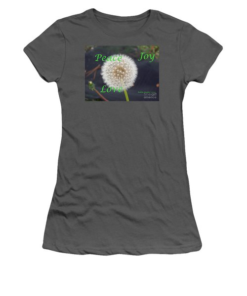 Women's T-Shirt (Junior Cut) featuring the photograph Peace Joy And Love by Robin Coaker