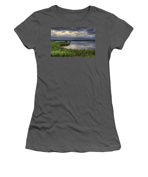 Peaceful Evening At The Lake Women's T-Shirt (Athletic Fit)