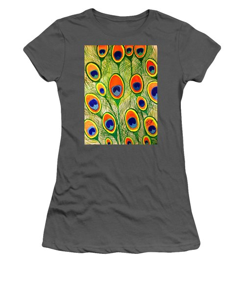 Peacock Feather Frenzy Women's T-Shirt (Athletic Fit)