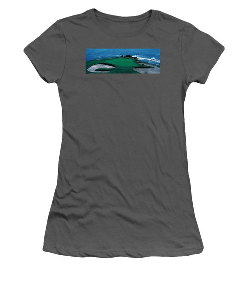 Pebble Beach Golf Course 8th Green Women's T-Shirt (Athletic Fit)