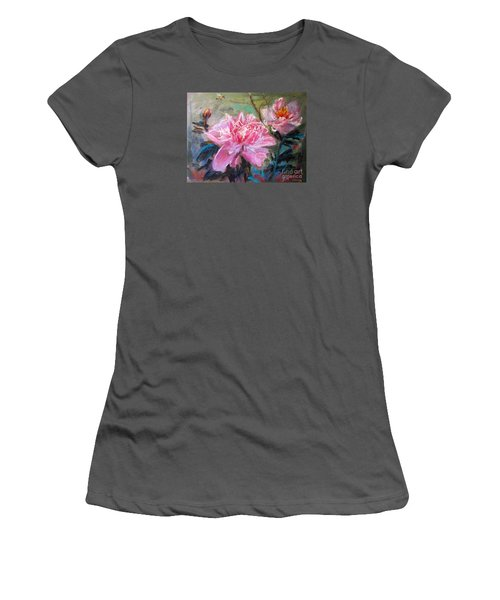 Peony Women's T-Shirt (Athletic Fit)